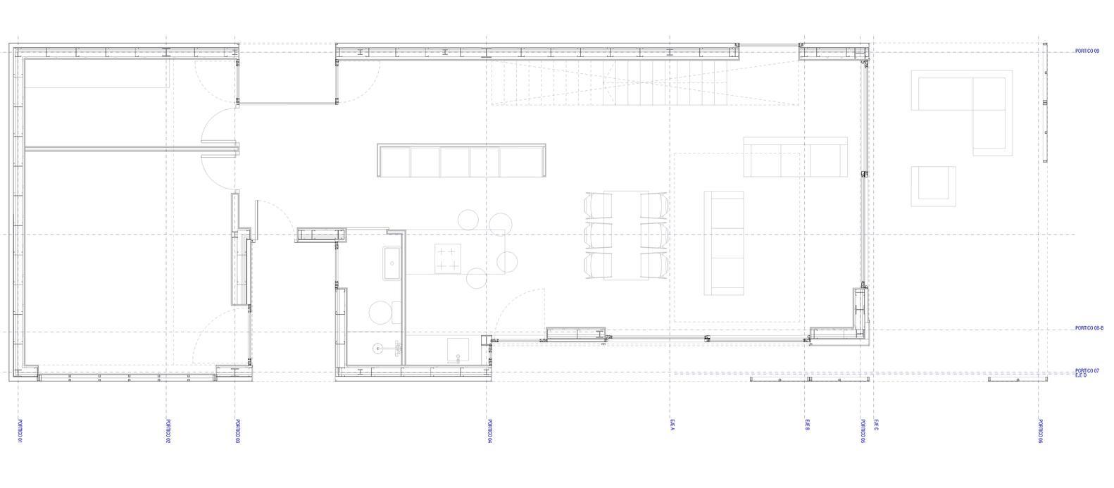 Bố trí mặt bằng tầng trệt - Castelldefels House