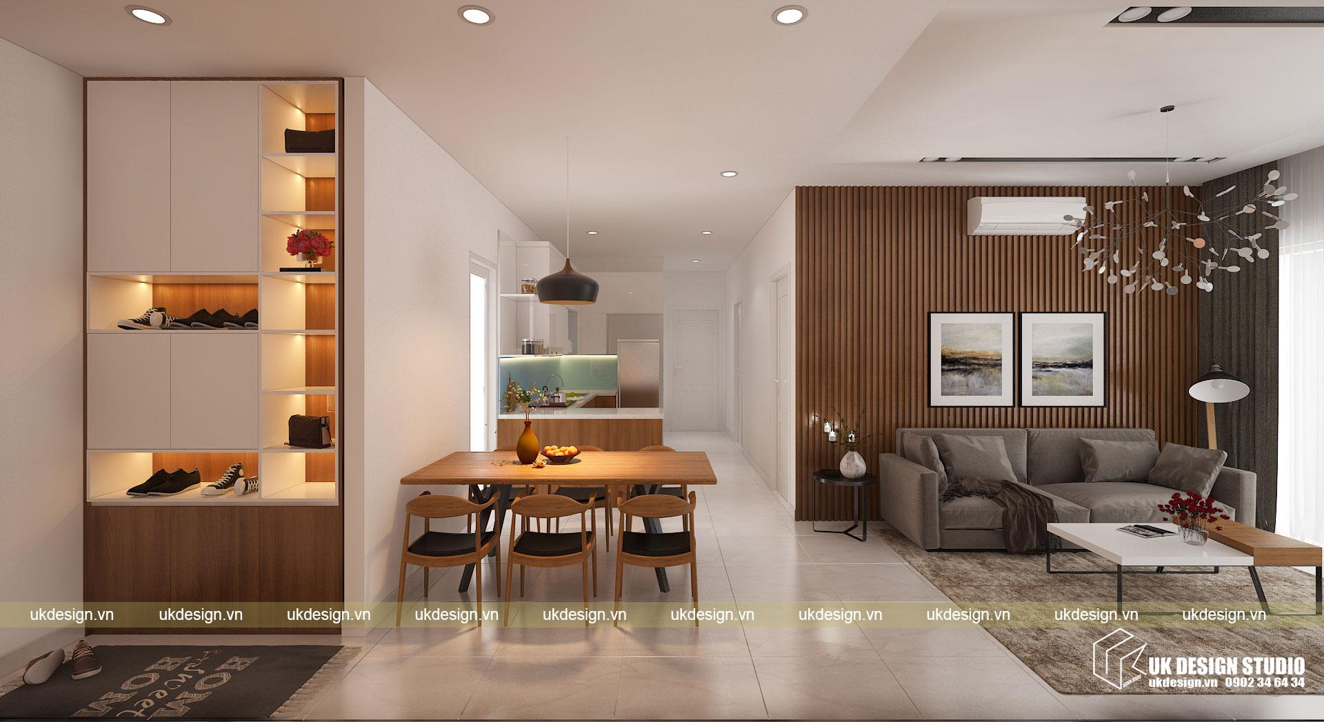 Thiết kế nội thất căn hộ 60m2 Hưng Lộc Phát 1