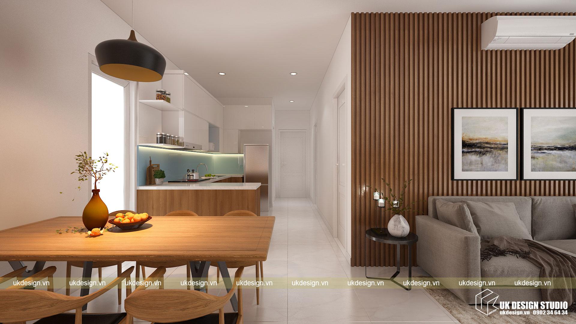 Thiết kế nội thất căn hộ 60m2 Hưng Lộc Phát 3