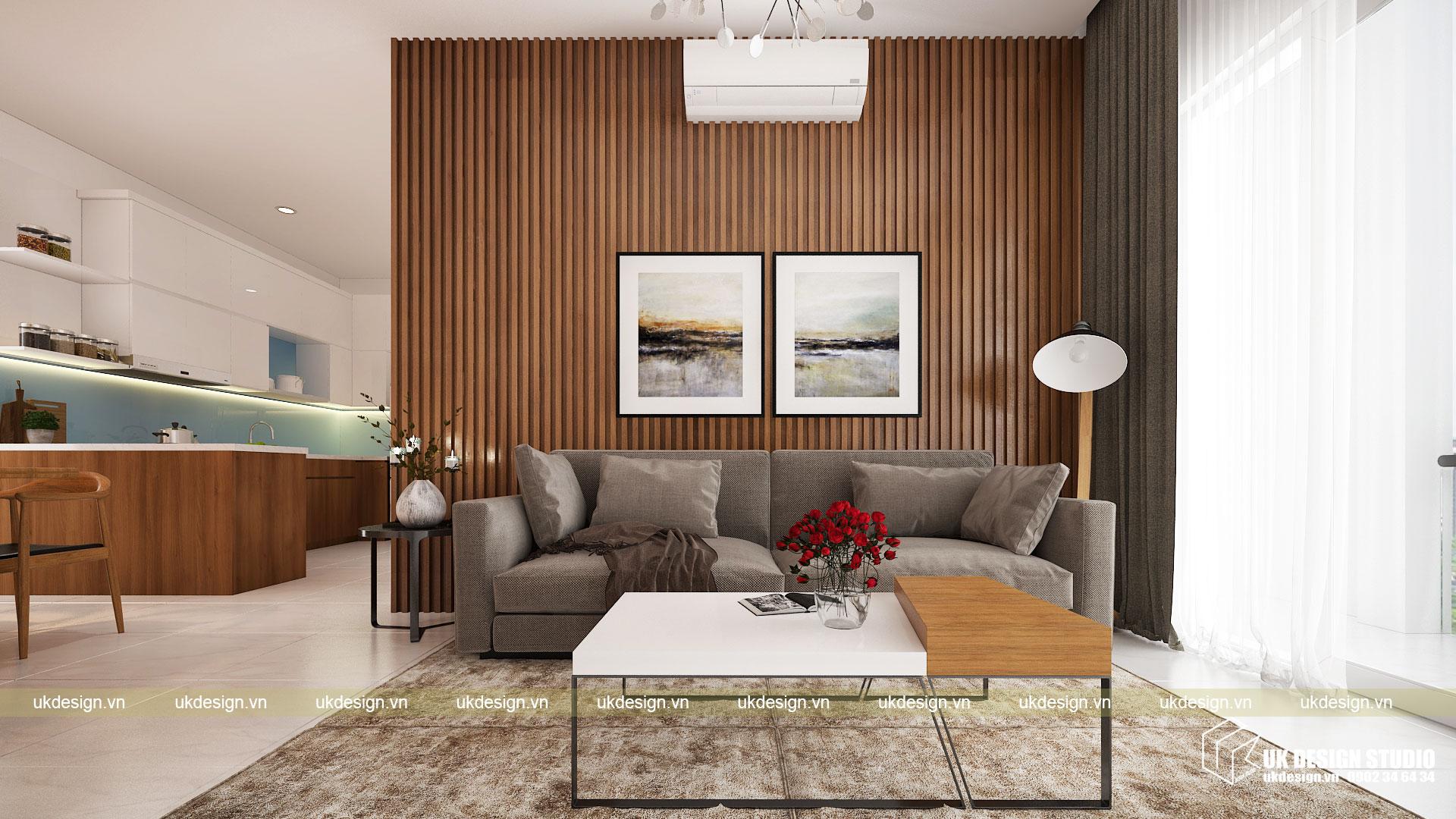 Thiết kế nội thất căn hộ 60m2 Hưng Lộc Phát 4