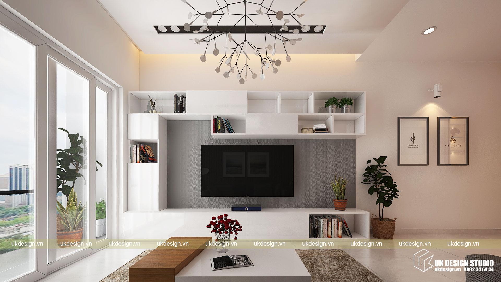 Thiết kế nội thất căn hộ 60m2 Hưng Lộc Phát 5