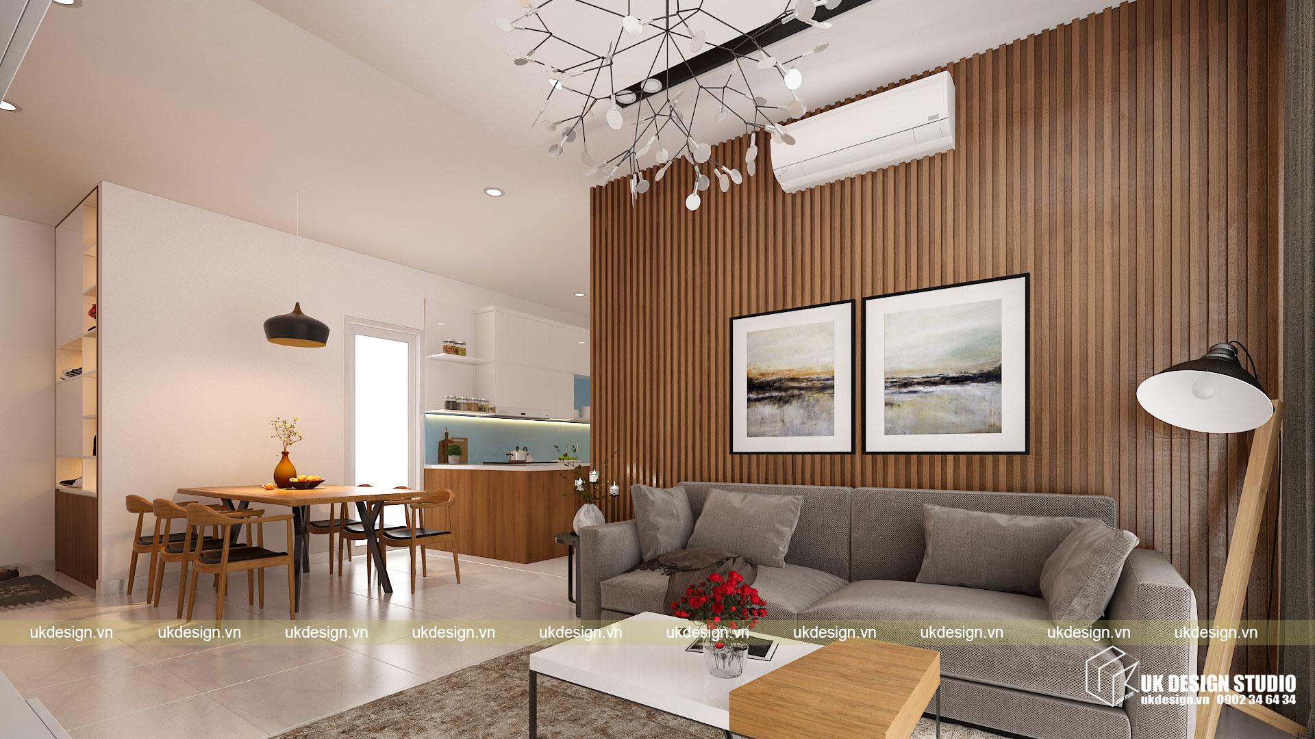 Thiết kế nội thất căn hộ 60m2 Hưng Lộc Phát 6