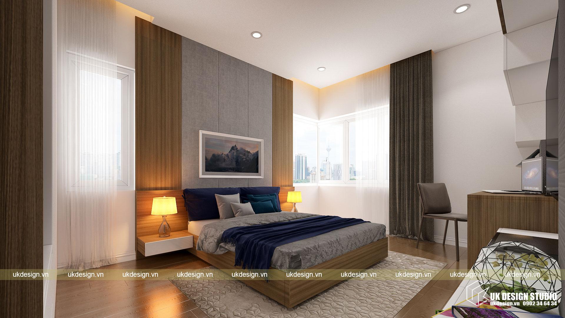 Thiết kế nội thất căn hộ 60m2 Hưng Lộc Phát 7