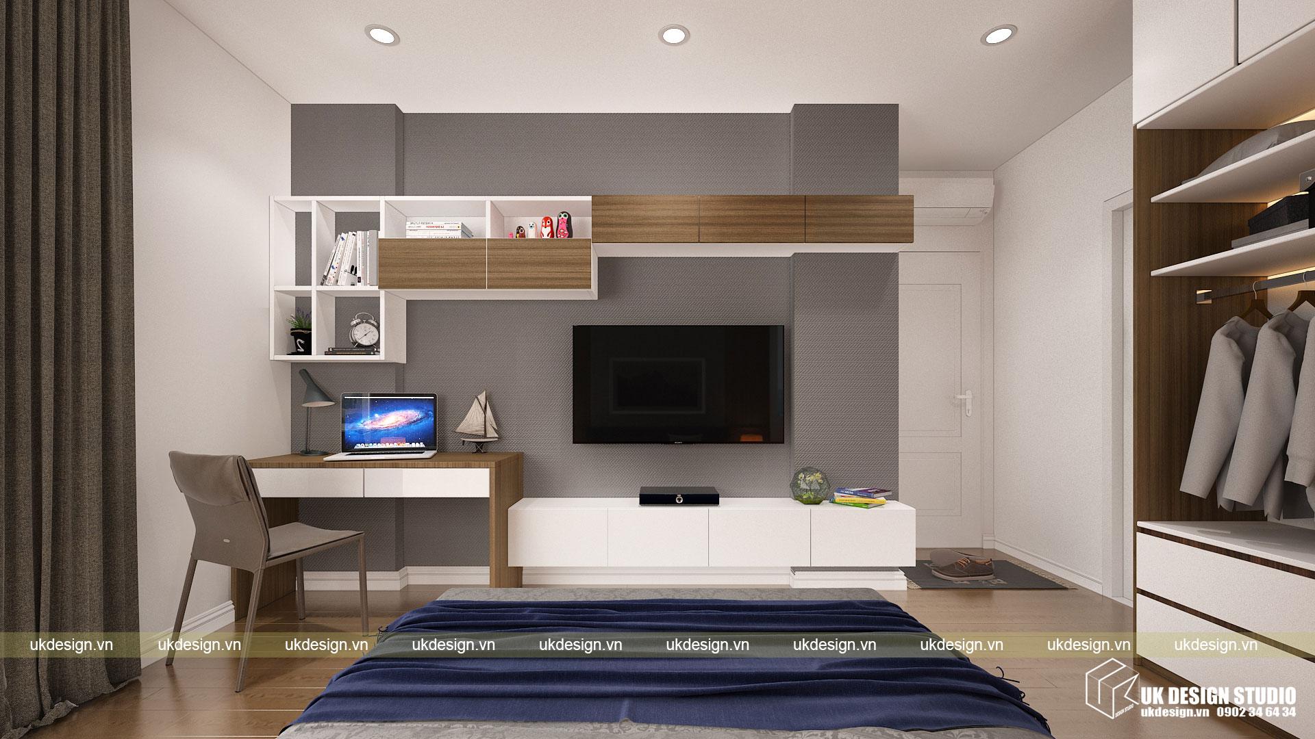 Thiết kế nội thất căn hộ 60m2 Hưng Lộc Phát 9