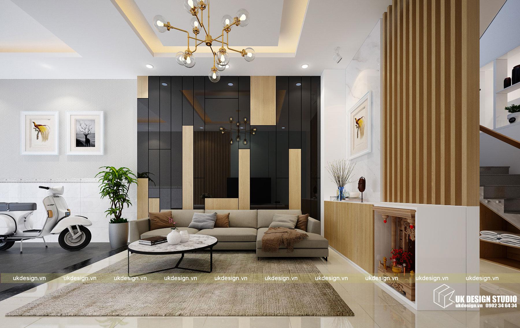 Thiết kế nội thất nhà phố 4m hiện đại