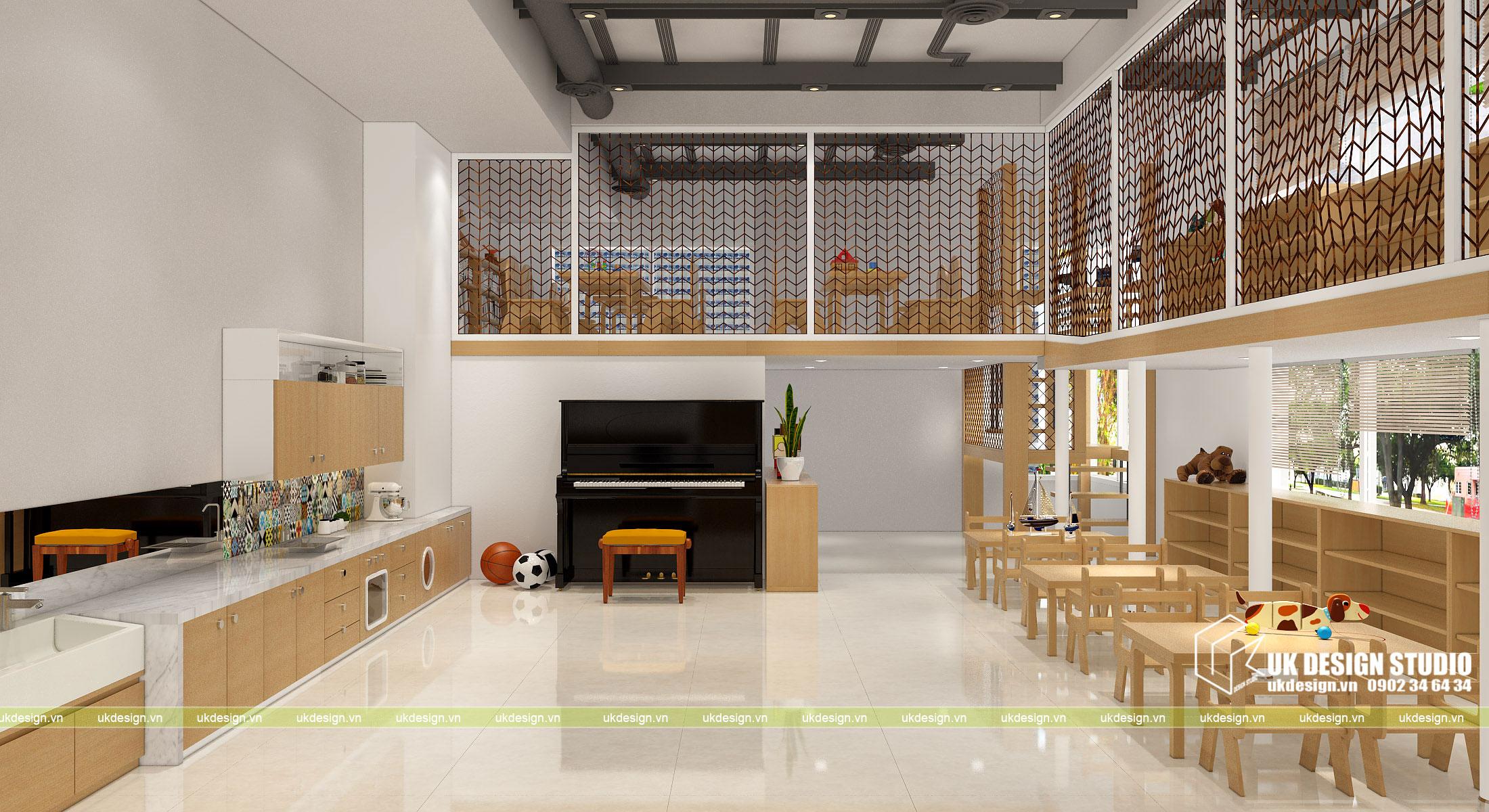 Thiết kế nội thất nhà trẻ 1