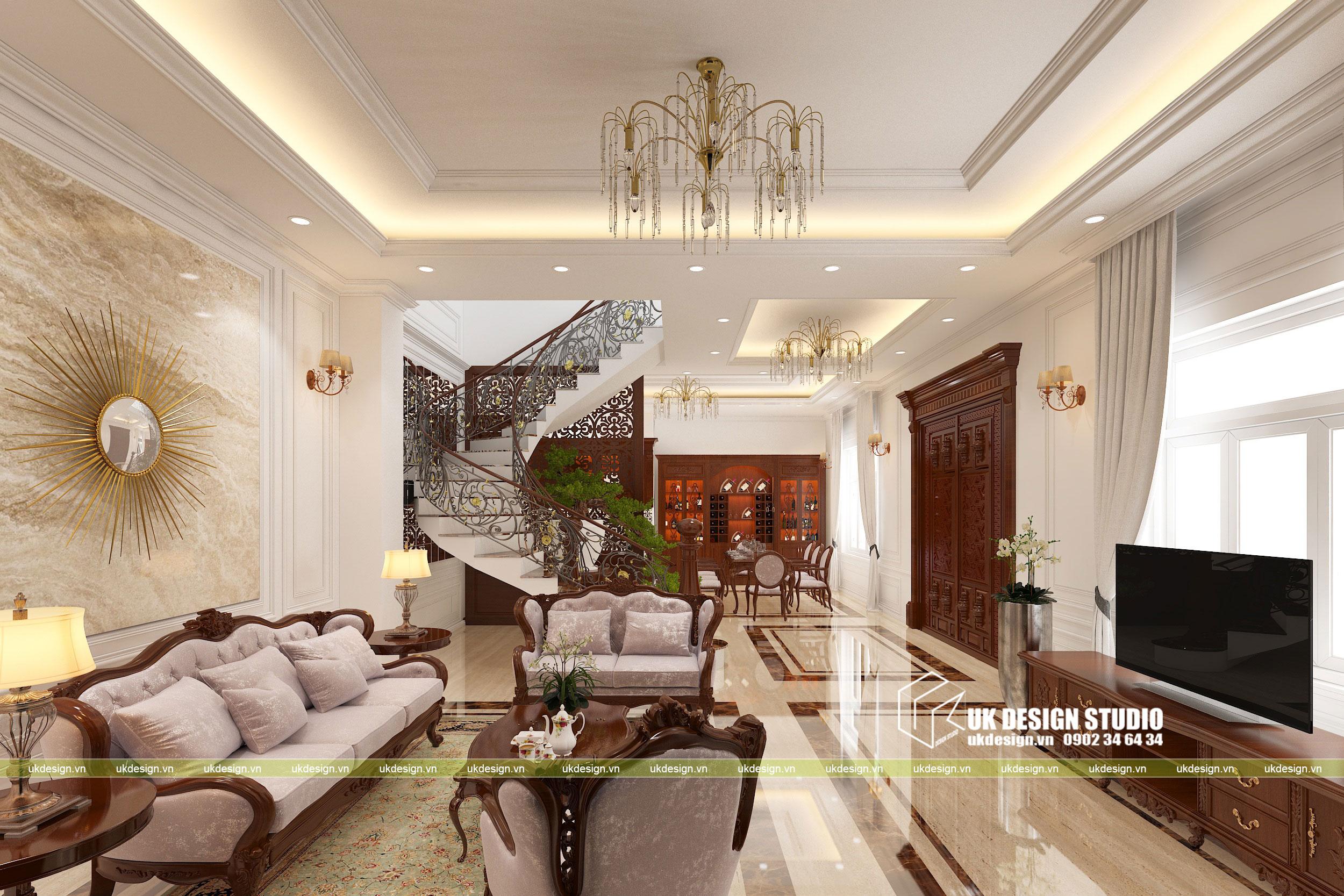 Thiết kế nội thất biệt thự cổ điển 1
