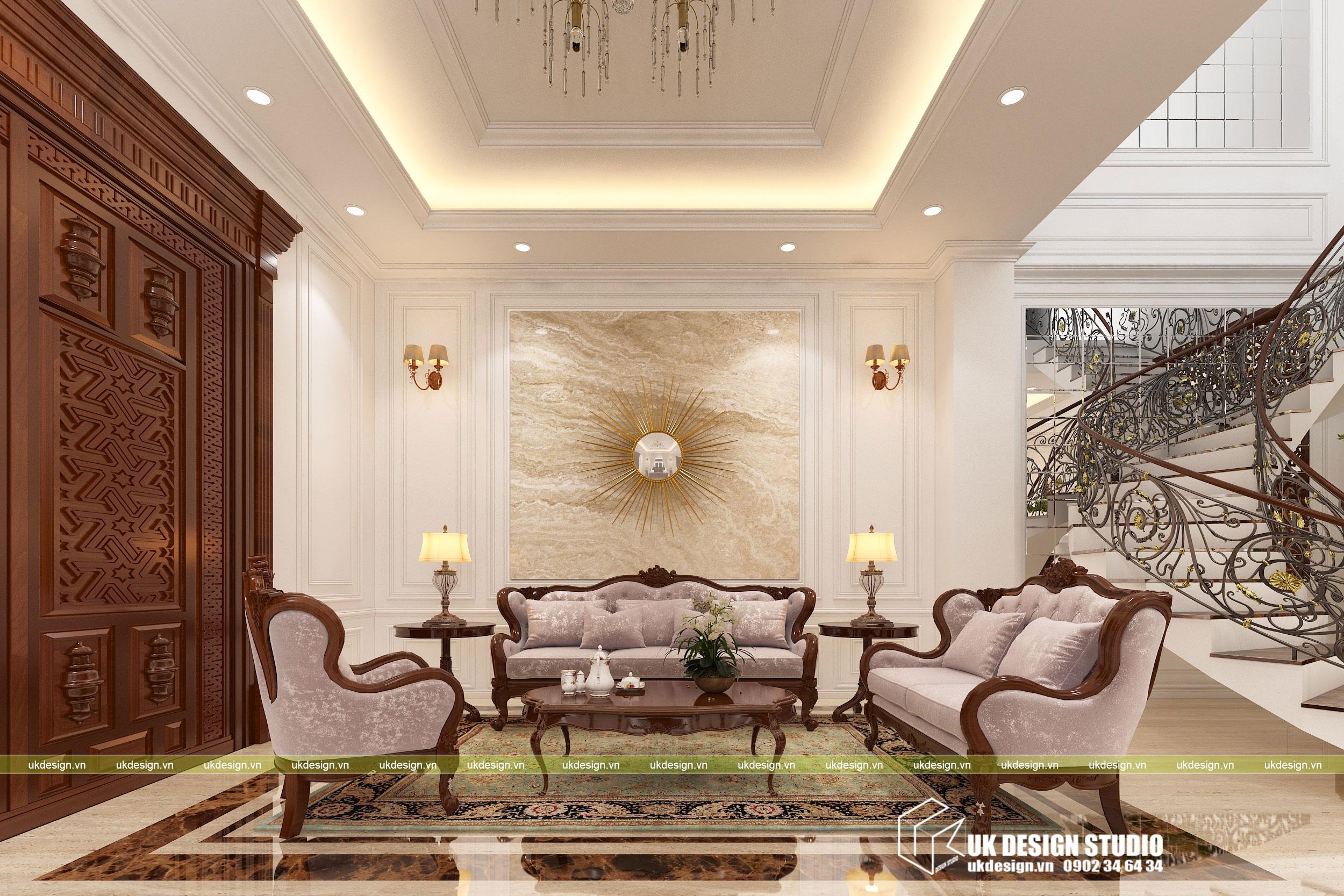 Thiết kế nội thất biệt thự cổ điển 4