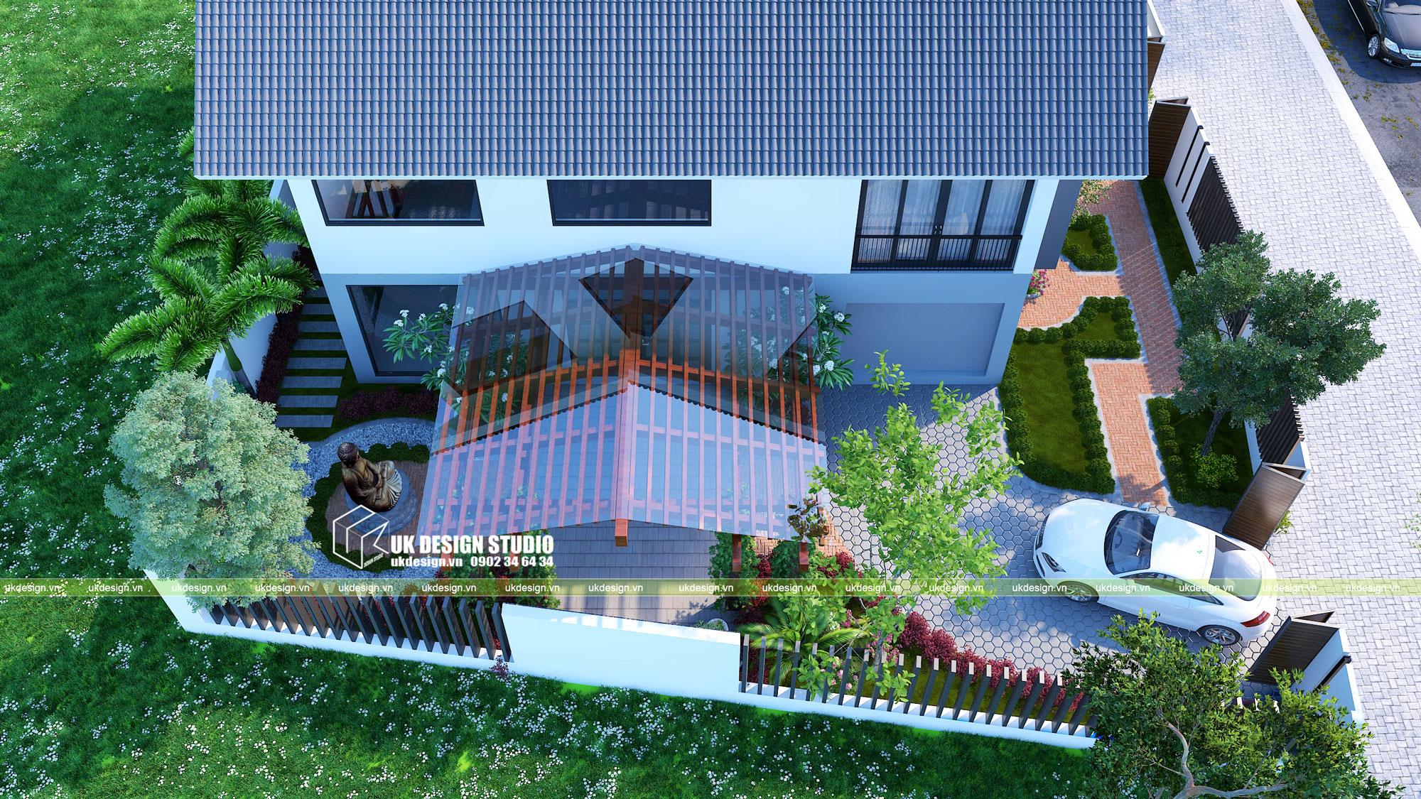 Biệt thự hiện đại sân vườn 500m2 4