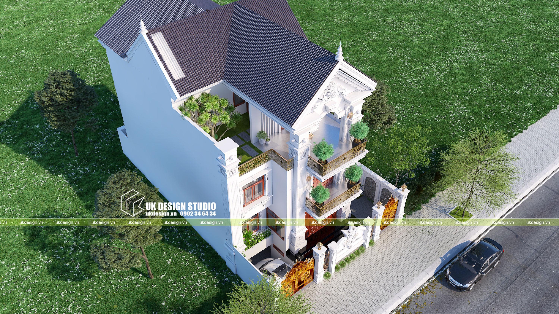 Thiết kế biệt thự phong cách cổ điển sân vườn 3