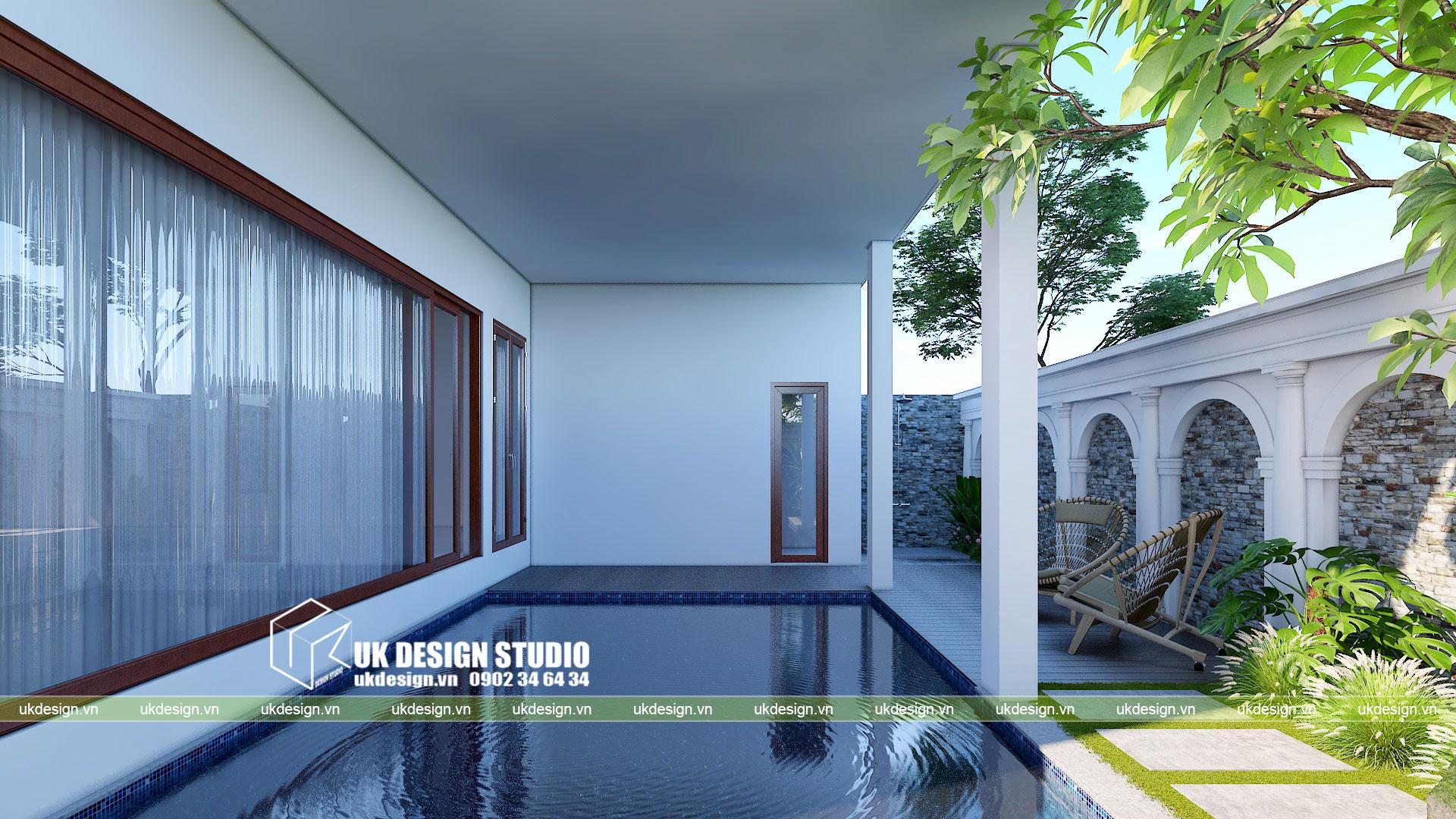 Thiết kế biệt thự phong cách cổ điển sân vườn 7