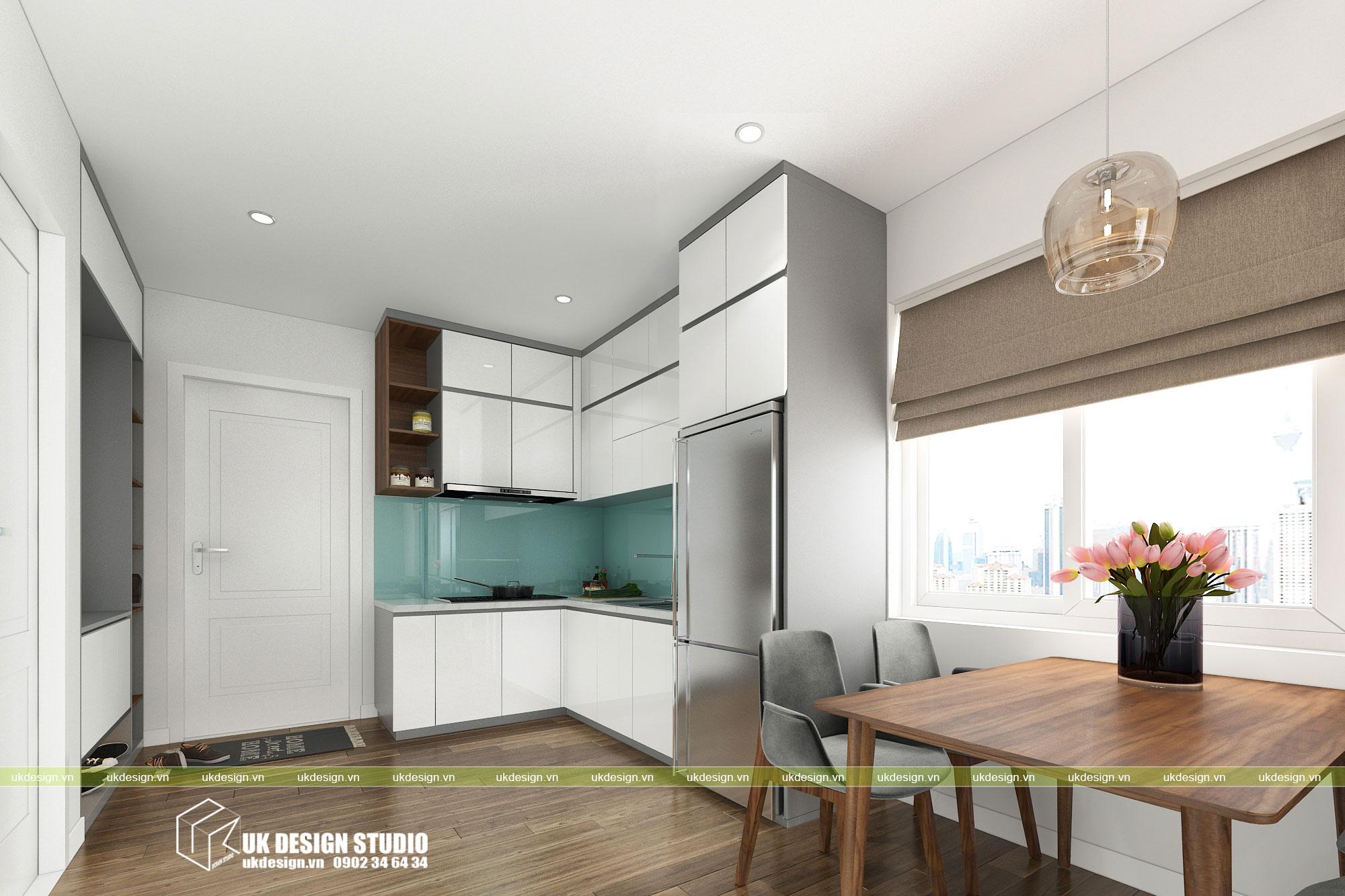 Thiết kế nội thất căn hộ 2 phòng ngủ 4