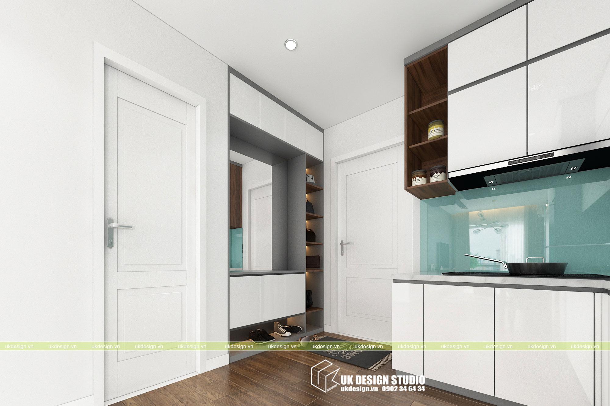 Thiết kế nội thất căn hộ 2 phòng ngủ 5