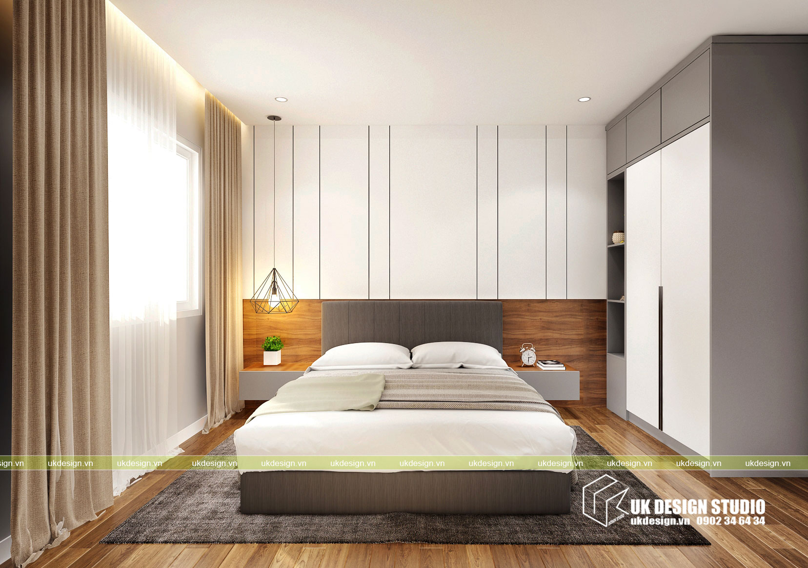 Thiết kế nội thất căn hộ 2 phòng ngủ 6