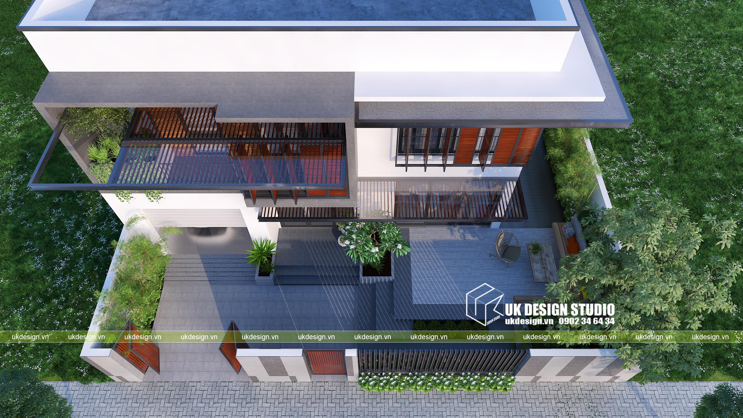 Thiết kế cải tạo biệt thự hiện đại 16x20m2