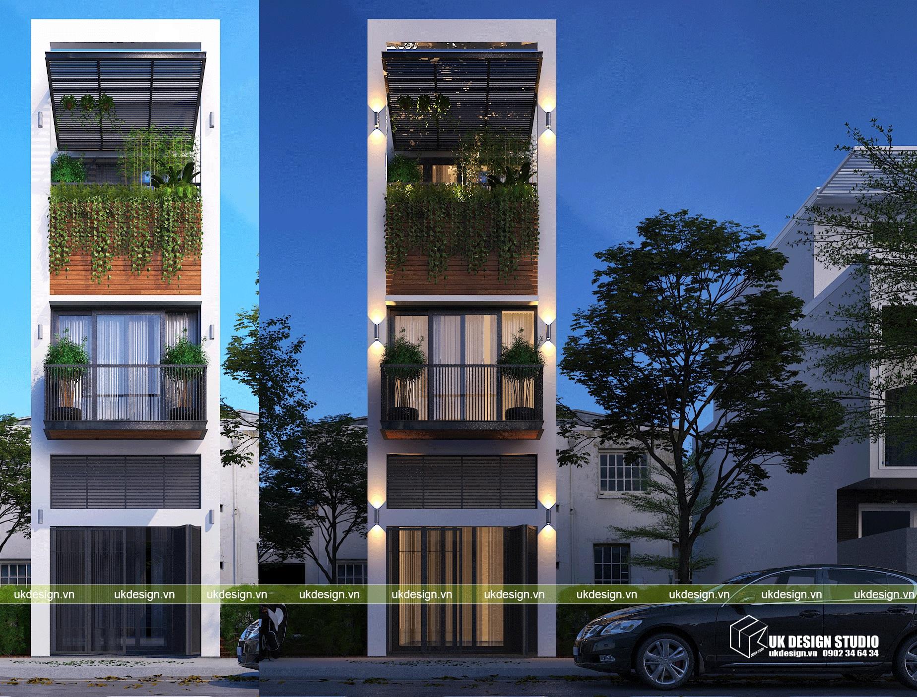 Thiết kế nhà phố hiện đại 3x15m2