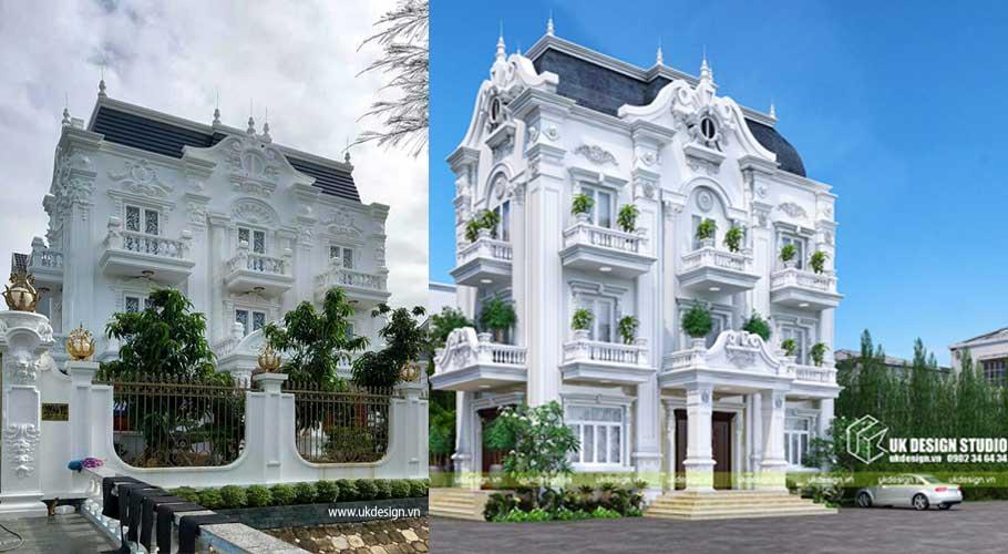Ảnh thực tế biệt thự cổ điển ở Nhà Bè, Hồ Chí Minh