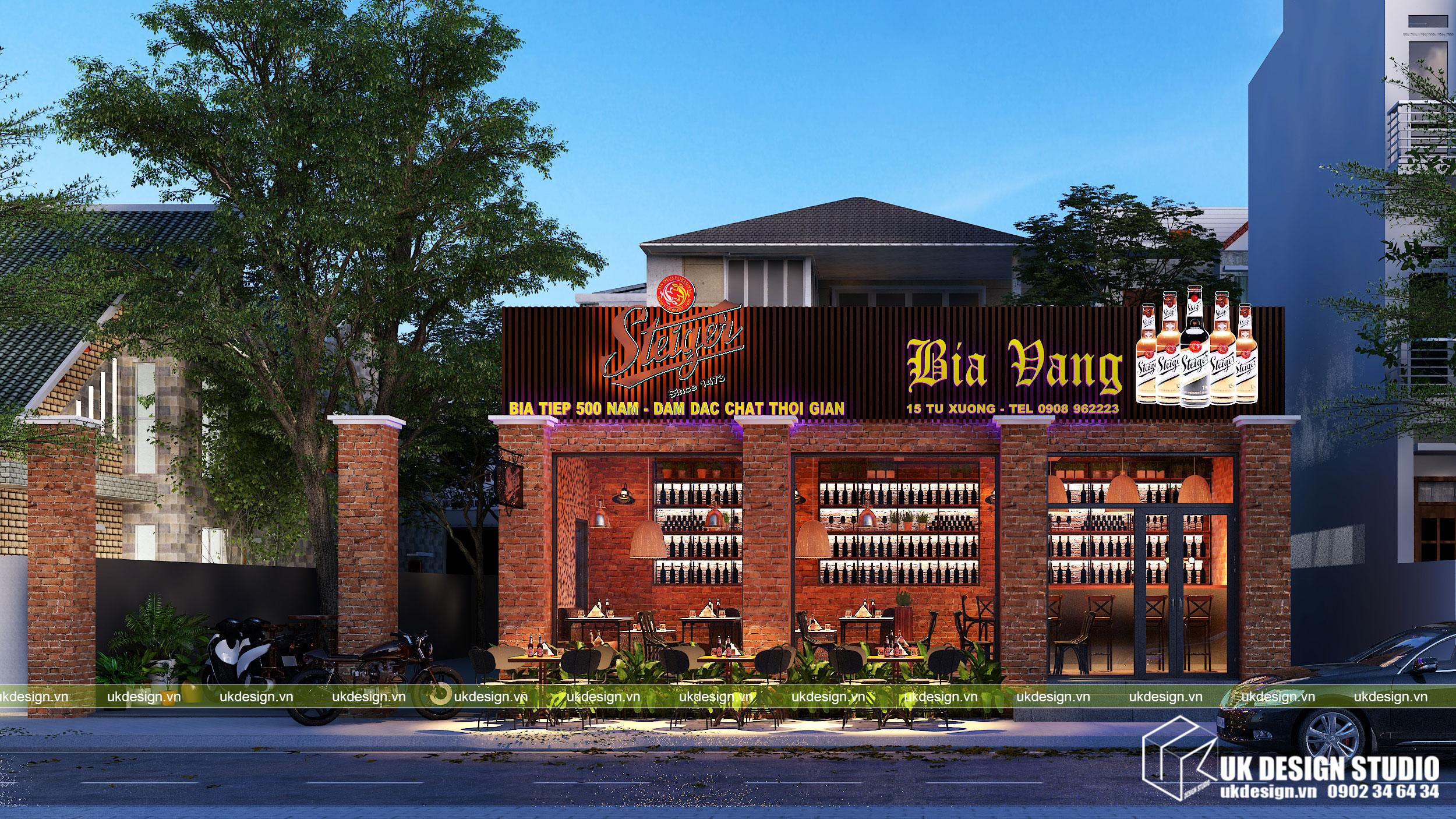 Thiết kế nhà hàng bia sang trọng