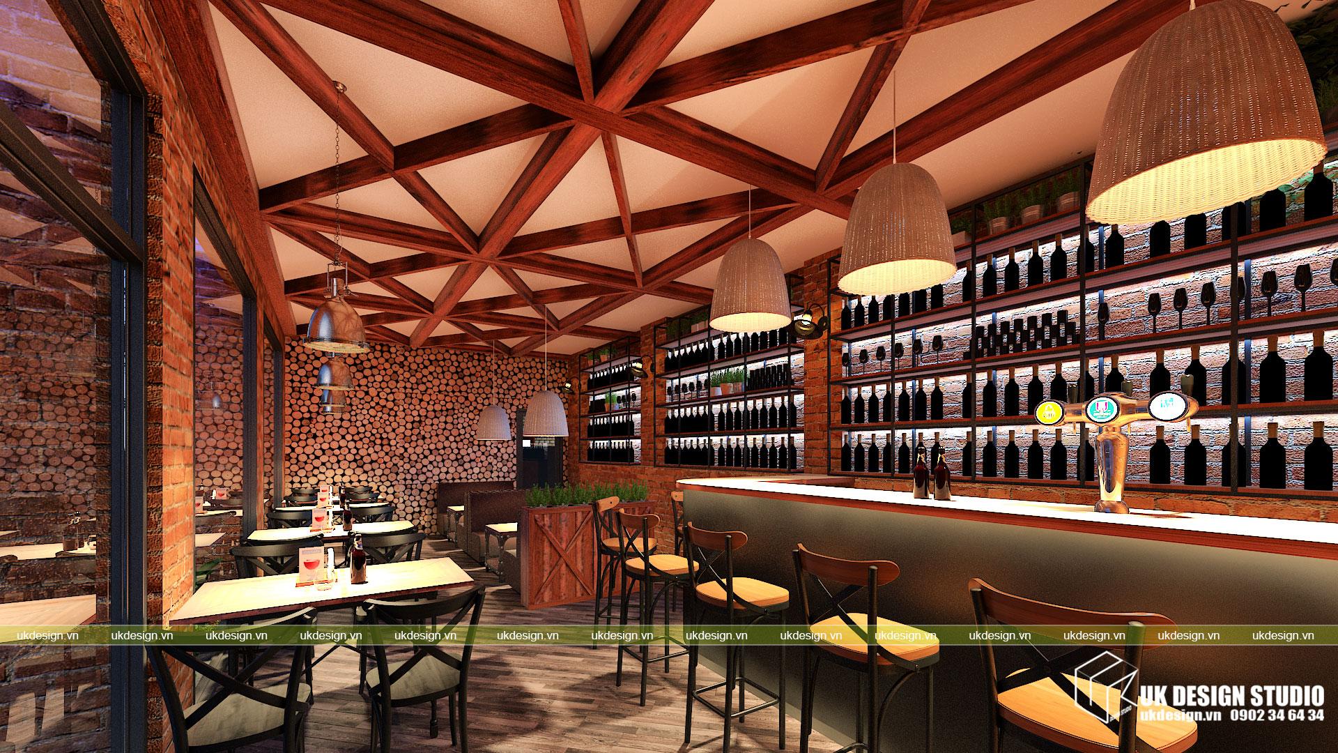Thiết kế nhà hàng bia sang trọng 2