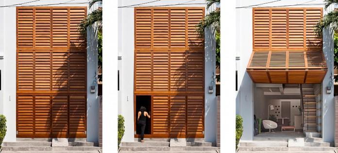Nha dep Sai Gon - TOWN HOUSE WITH A FOLDING-UP SHUTTER 3