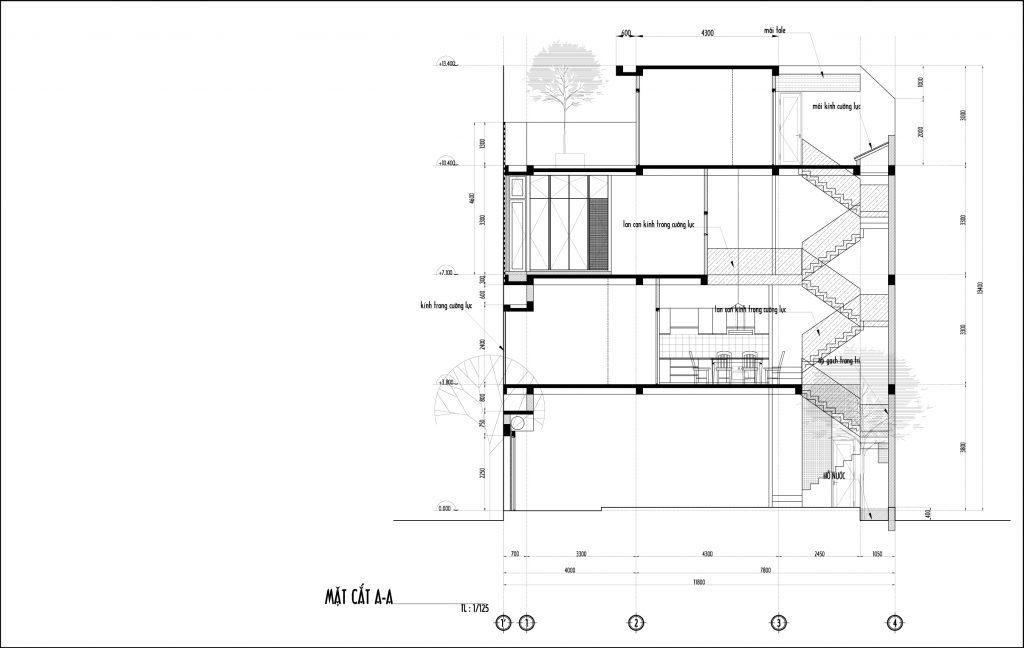 Bố trí mặt bằng nhà phố 50m2-1