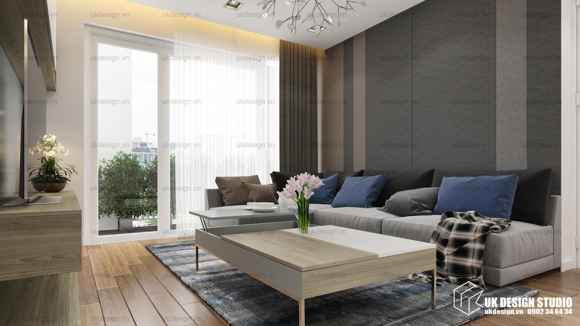 Thiết kế nội thất căn hộ chung cư 3