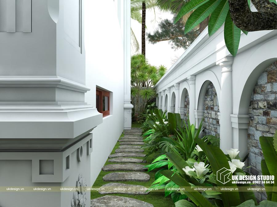 Thiết kế biệt thự cổ điển 15x20m2 11