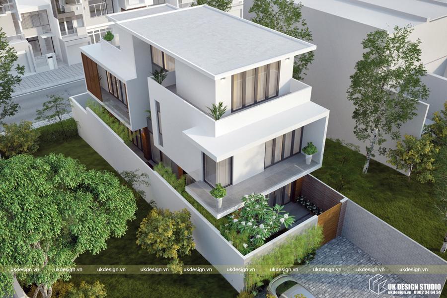 Biệt thự hiện đại 3 tầng 4