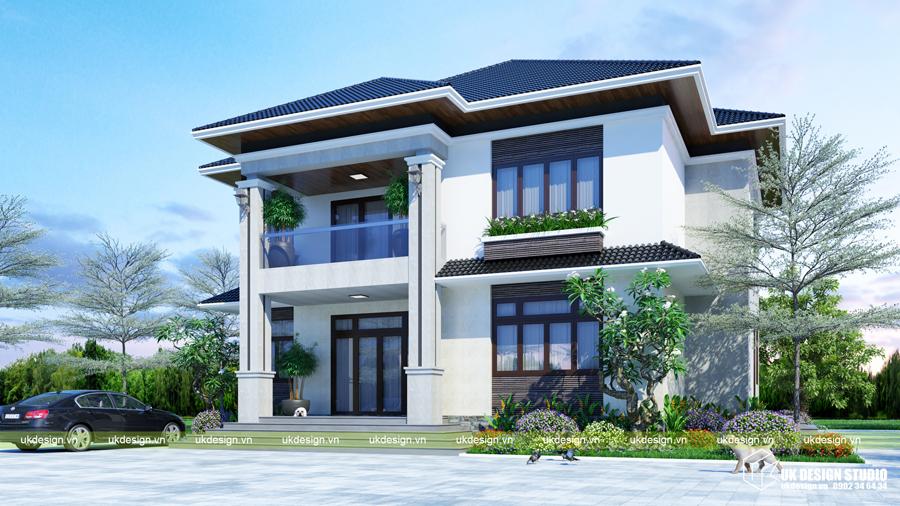 Biệt thự mái Thái 2 tầng 3