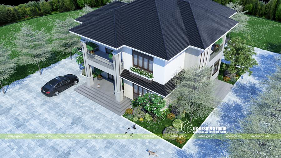 Biệt thự mái Thái 2 tầng 7