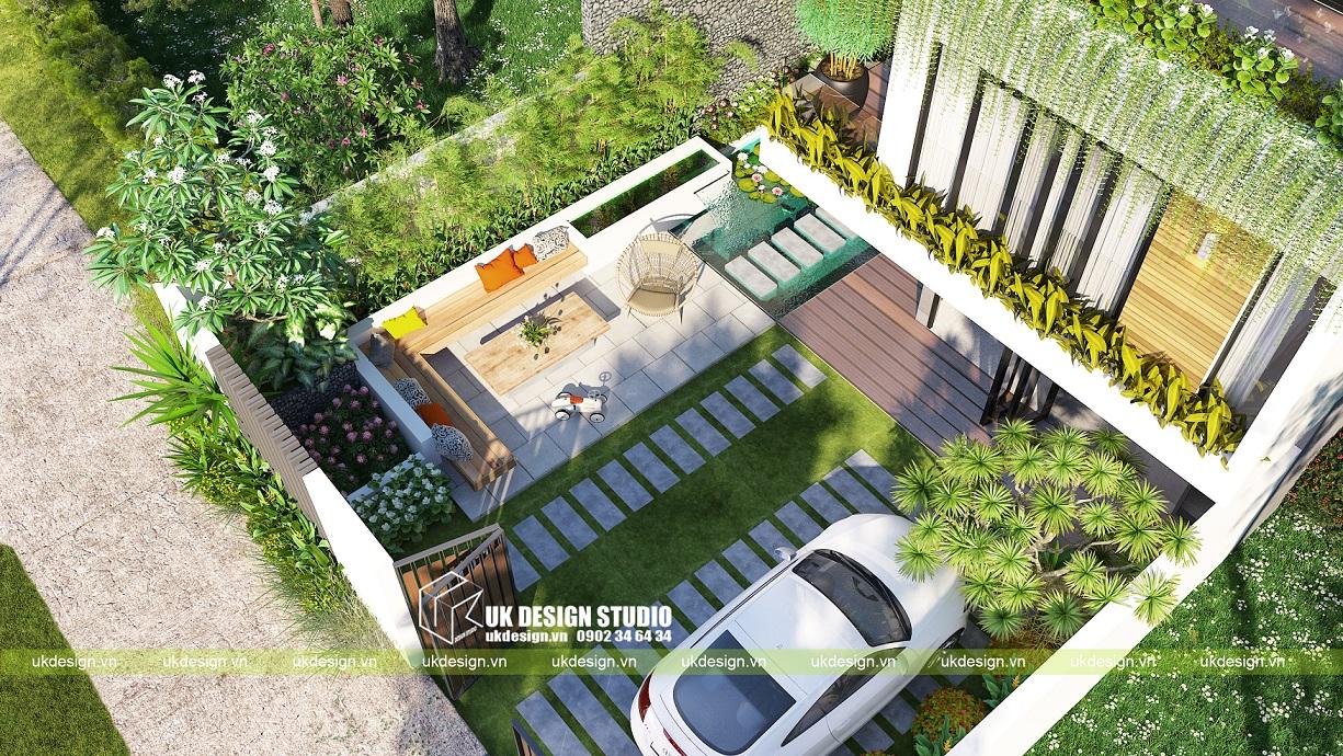 biệt thự vườn 3 tầng hiện đại 10x20 c
