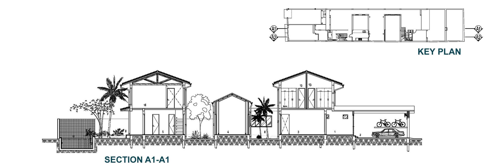 Mặt bằng - Modern Tube House - 4