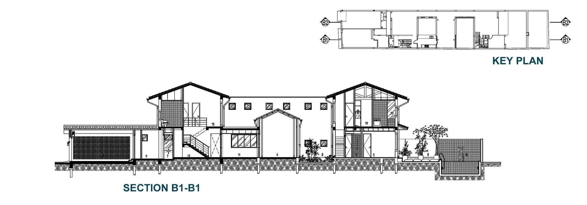 Matbang ModernTubeHouse 6 - Modern Tube House - Nhà ống hiện đại với nhiều khoảng xanh phá cách