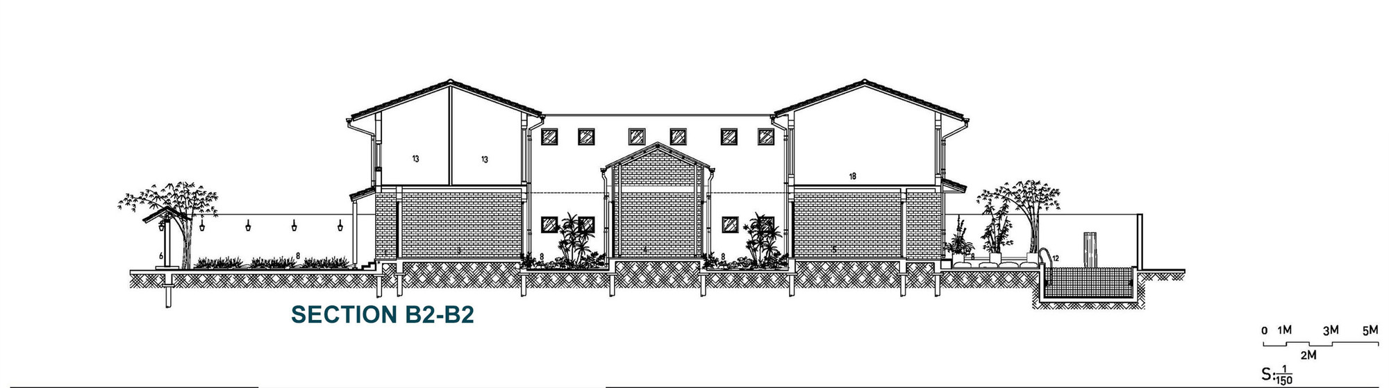 Mặt bằng - Modern Tube House - 6b