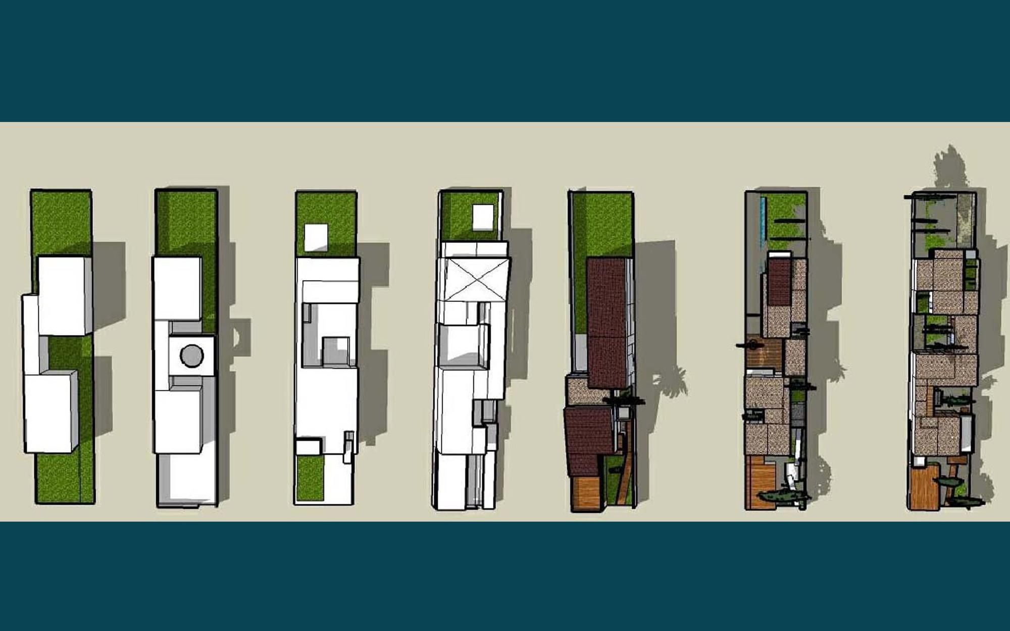 Matbang ModernTubeHouse 7 - Modern Tube House - Nhà ống hiện đại với nhiều khoảng xanh phá cách