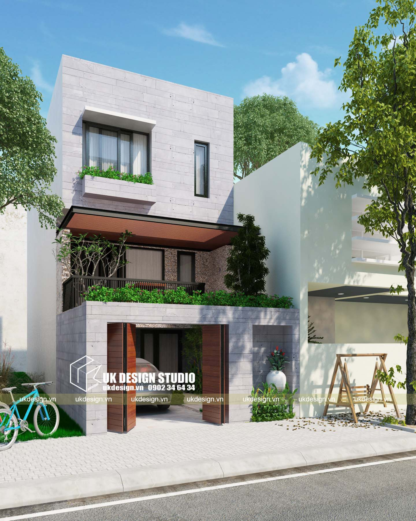 Nhà phố hiện đại 5x20m 1