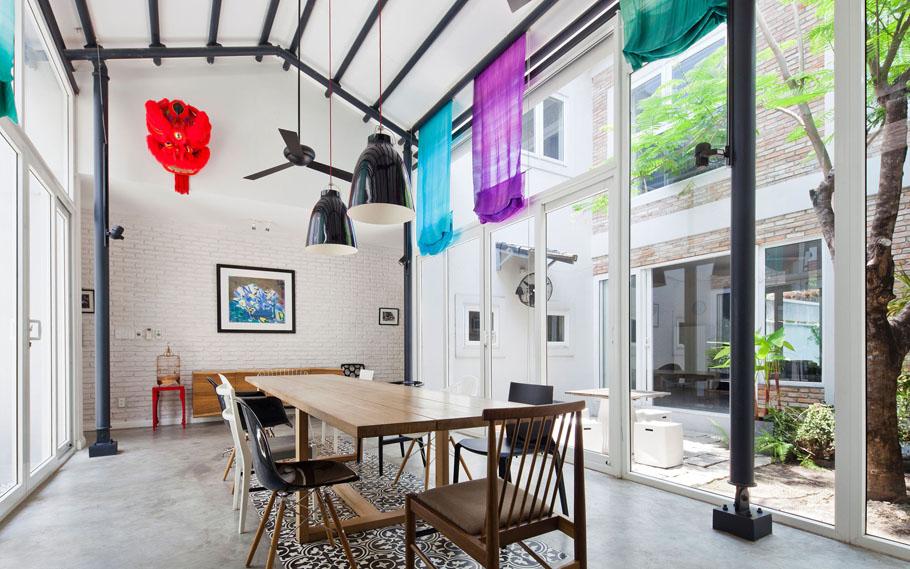 Nhadepvietnam ModernTubeHouse 8 - Modern Tube House - Nhà ống hiện đại với nhiều khoảng xanh phá cách