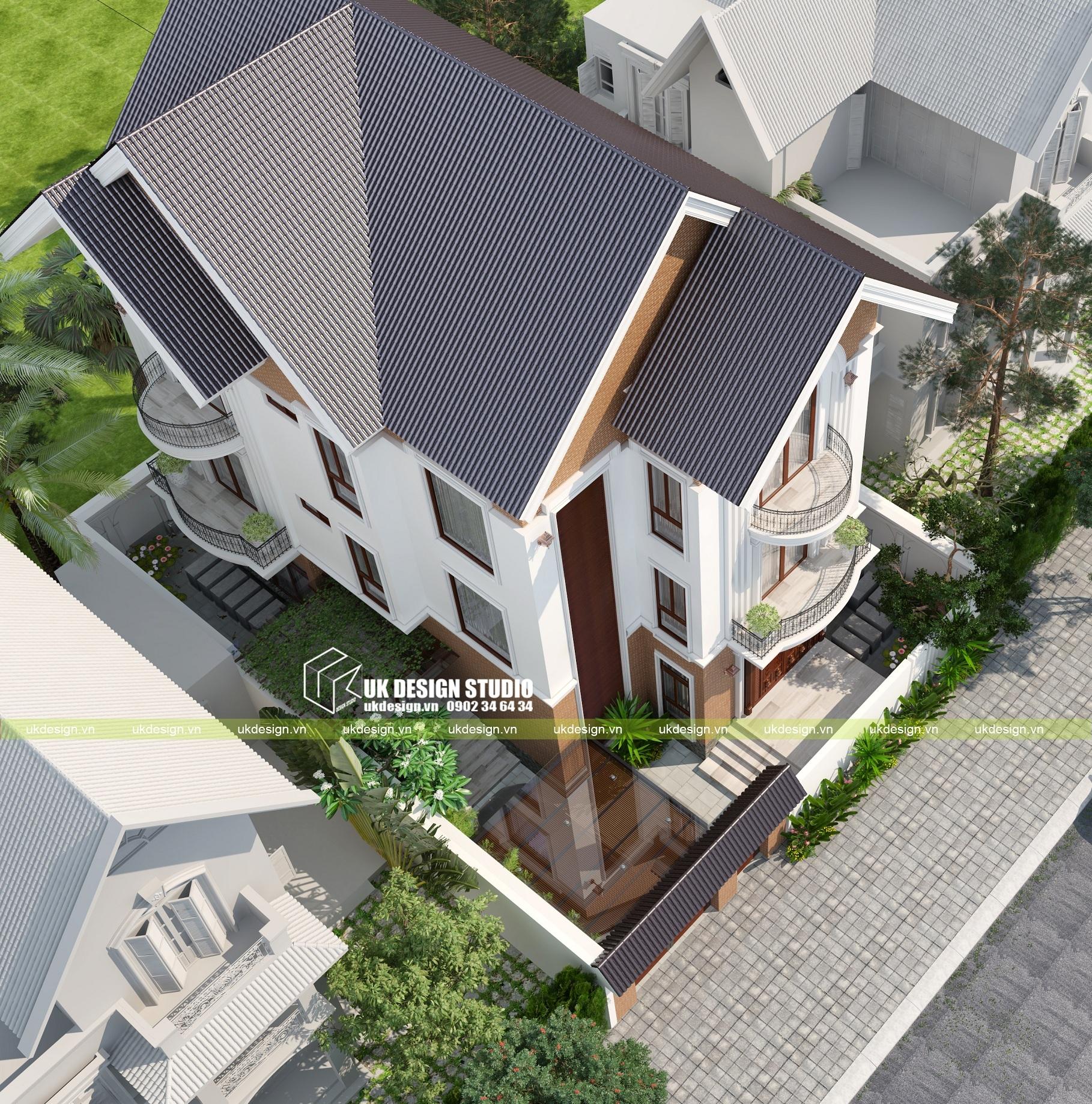 Biệt thự mái thái 2 tầng 15 x 20m - 3
