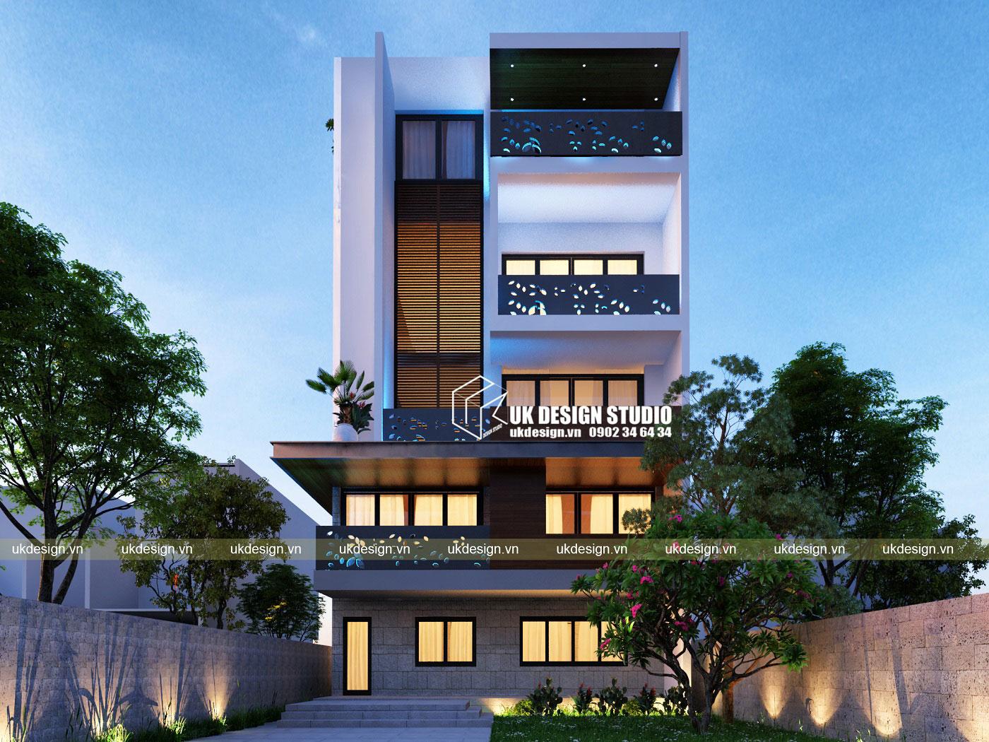 Biệt thự phố hiện đại 10x25m - 1