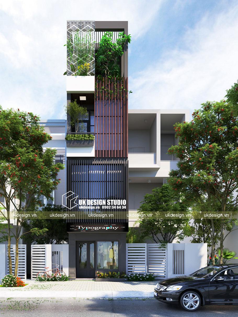 Thiết kế nhà phố diện tích nhỏ 3x15m