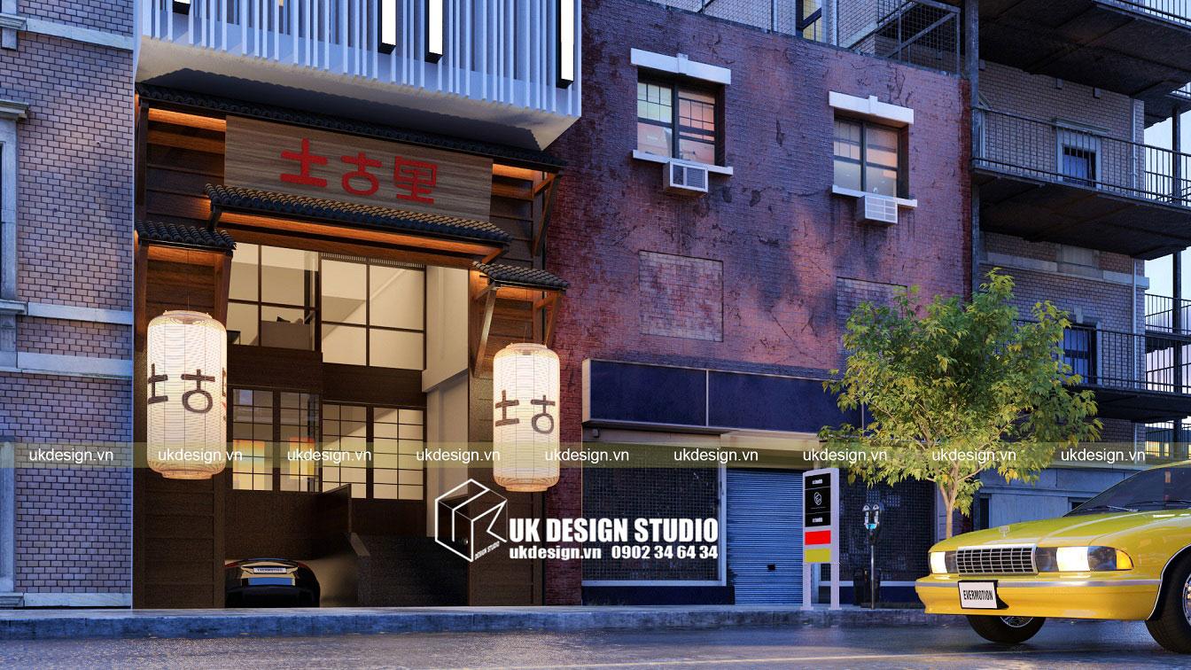 thiết kế nhà hàng Nhật kết hợp văn phòng - 2