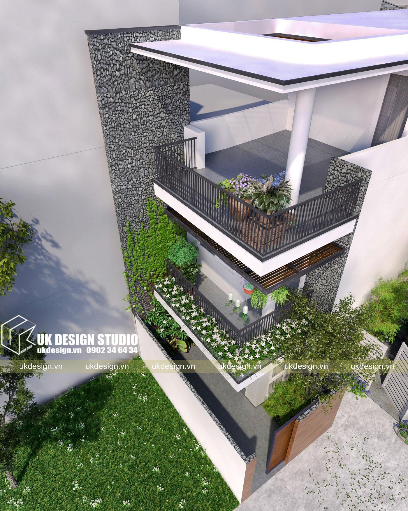 Thiết kế nhà phố hiện đại 5x15m-a