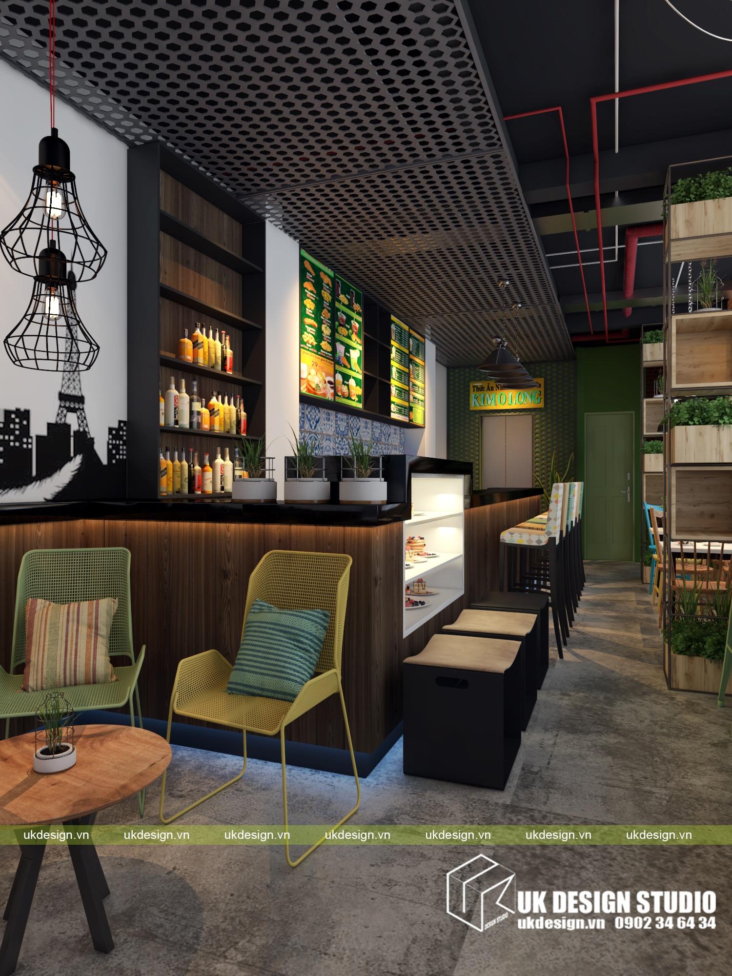 Thiết kế quán cafe và trà sữa No Name - a