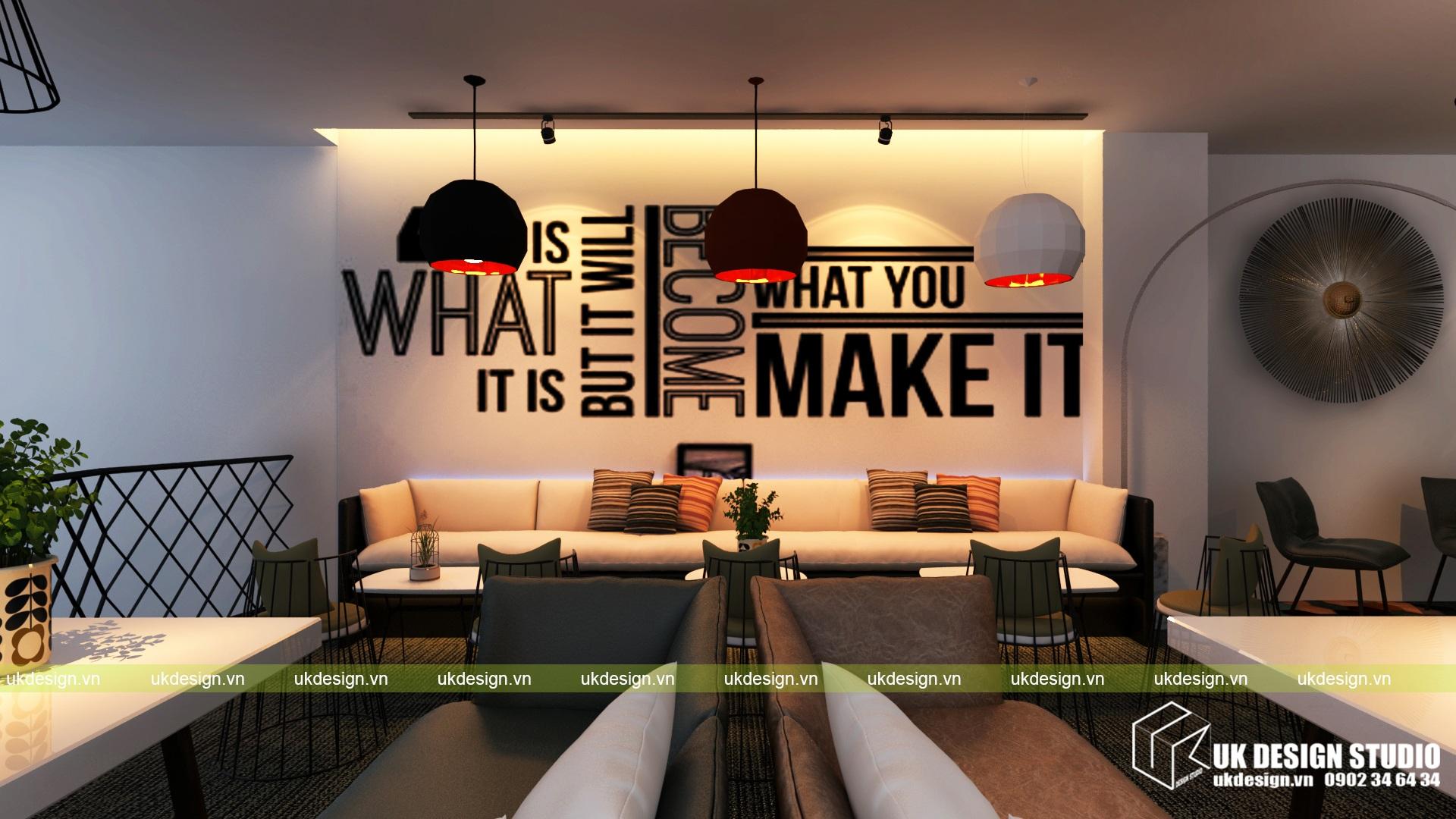 Thiết kế quán cafe và trà sữa No Name - e