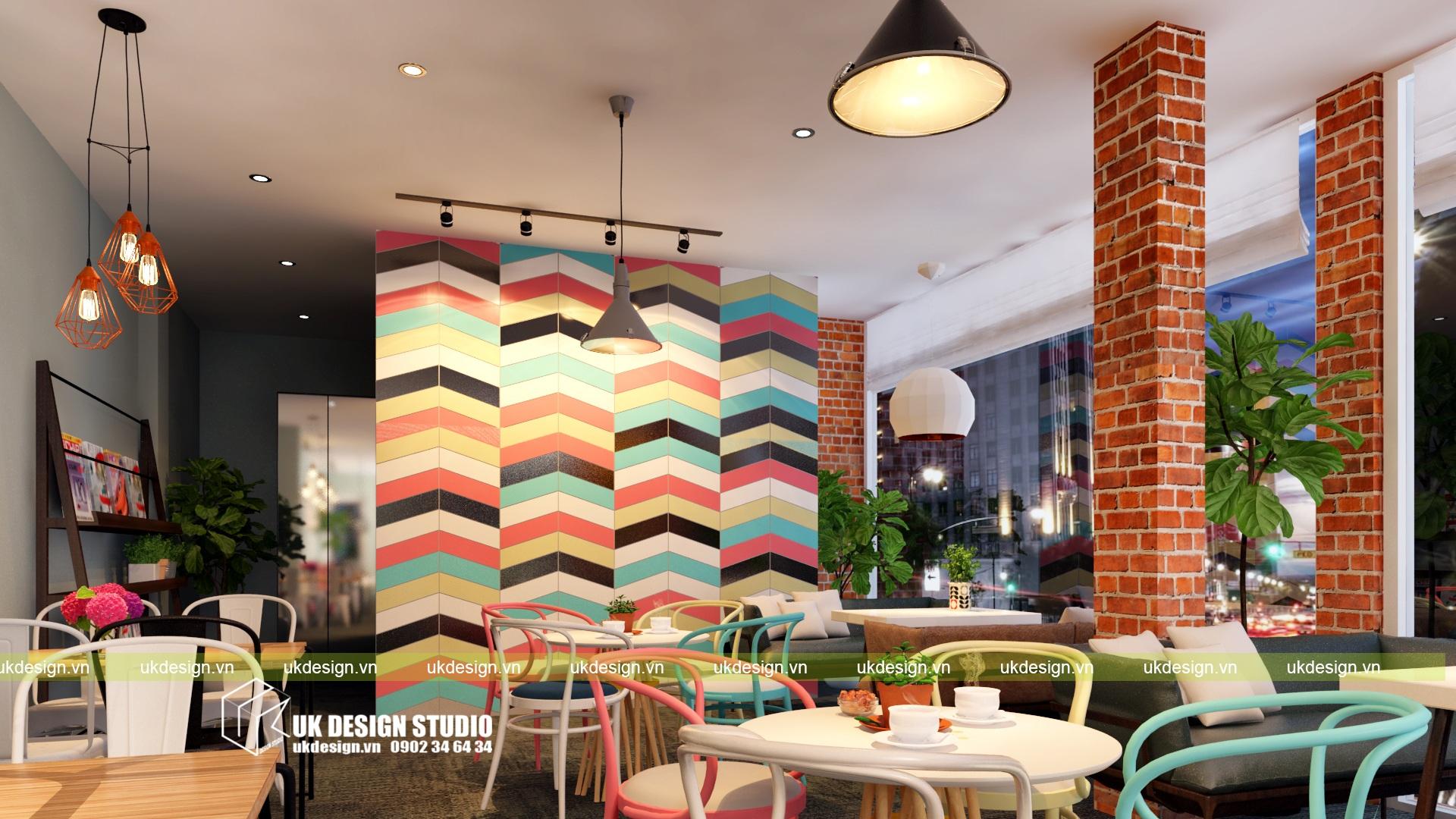 Thiết kế quán cafe và trà sữa No Name - l