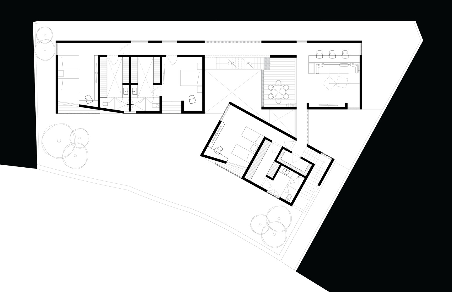 Mặt bằng biệt thự 900m2- s house - 4