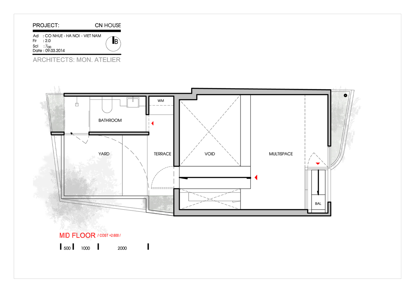 matbangnhaf50m2 innovation house 2 - Innovation House - Ngôi nhà có không gian chức năng được biến đổi liên tục