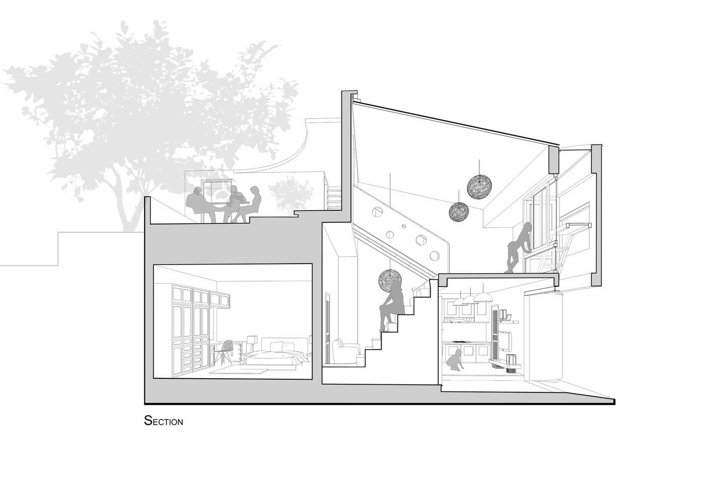 matbangnhaf50m2 innovation house - Innovation House - Ngôi nhà có không gian chức năng được biến đổi liên tục