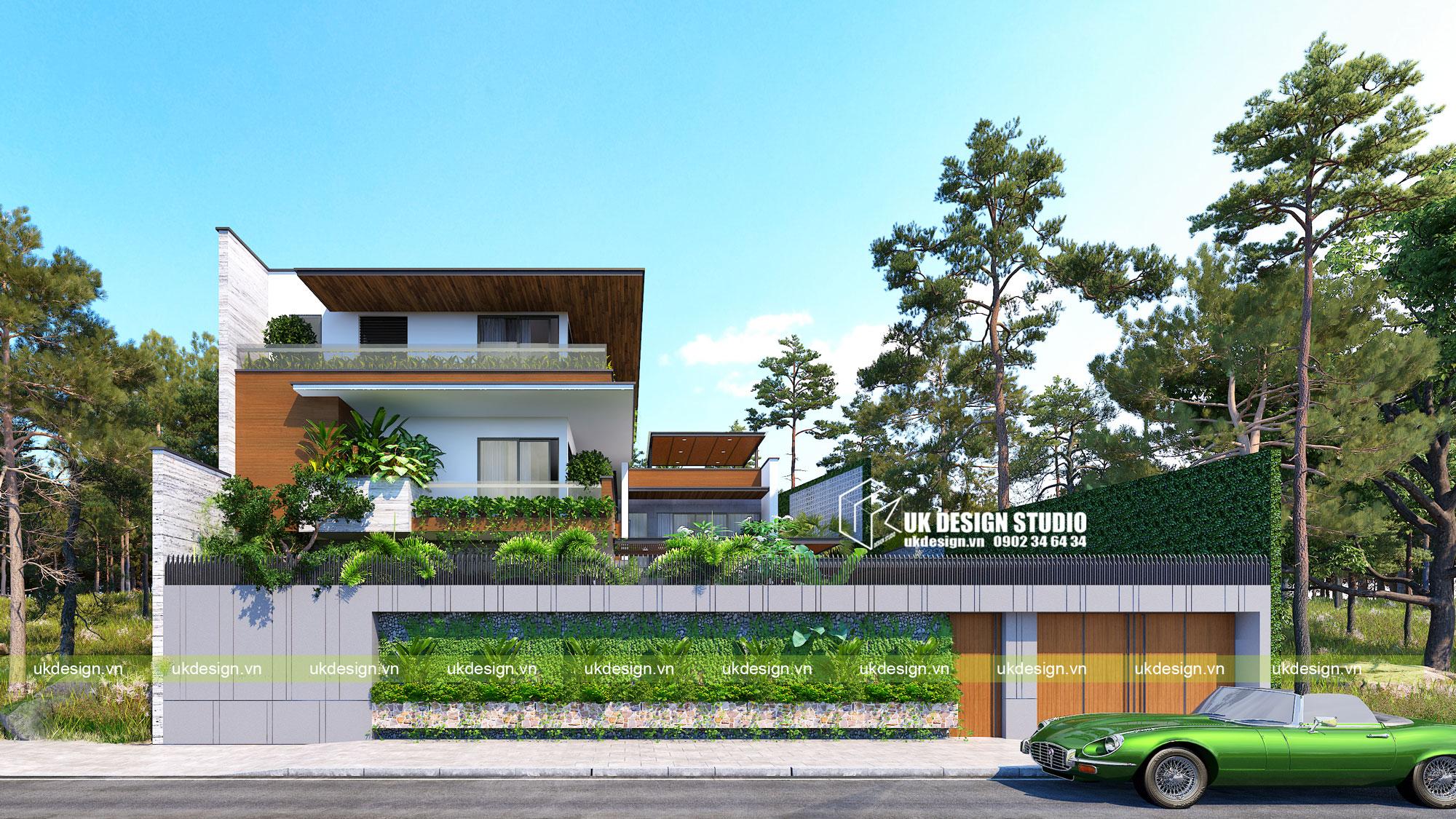 Thiết kế biệt thự vườn có hồ bơi ở Sài Gòn - 1