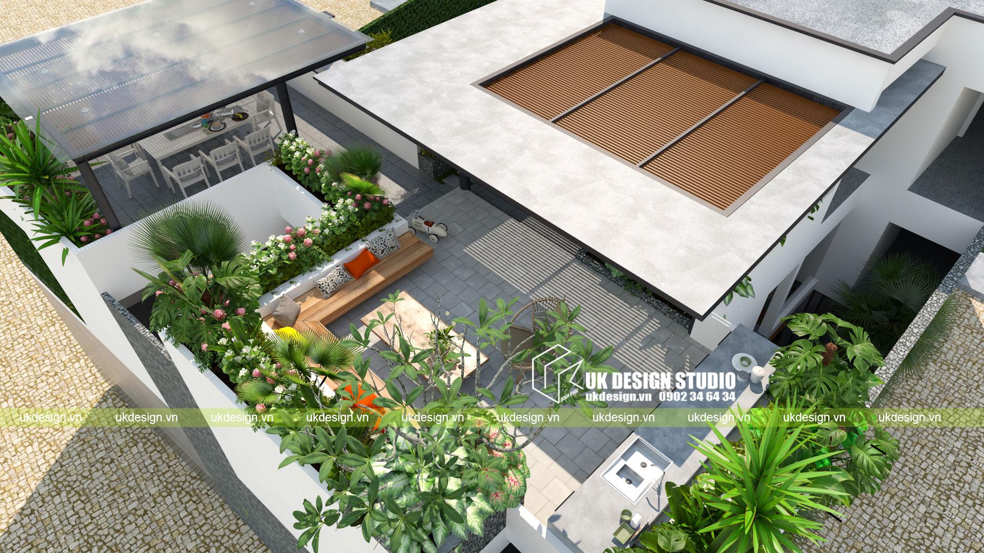 Thiết kế biệt thự vườn có hồ bơi ở Sài Gòn - 18